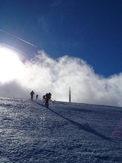 1ère course à ski de l'année 2018 à Chasseral le 6 janvier